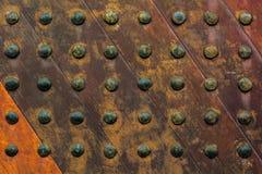 Old wooden door. Ancient wooden door  texture background Stock Images