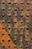 Old wooden door. Ancient wooden door  texture background Stock Photo