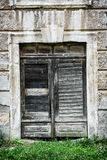 Old wooden door, architectural element Stock Photo