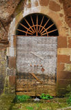 Old Wooden Door in Archway Royalty Free Stock Photos