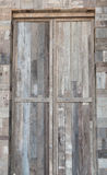 Old wooden door background. In thailand Royalty Free Stock Photo