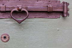 Old wooden door bolt handle Royalty Free Stock Photo