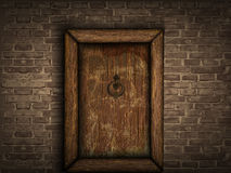 Old wooden door Stock Photography