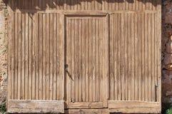 Old wooden door. Old wooden brown door detail Stock Photography
