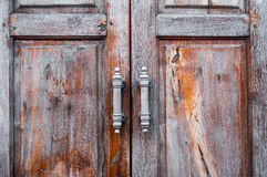 Old wooden door brown retro Royalty Free Stock Images