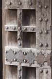 Old wooden door in the castle Stock Photos