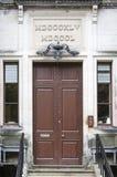 Old wooden door in castle. In England Stock Images