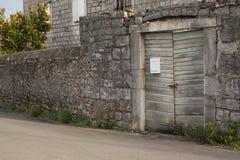 Old wooden door in centar vilage royalty free stock images