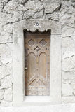 Old wooden door in a church Royalty Free Stock Photos