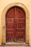 Old wooden door in city of Rethymno, Crete Royalty Free Stock Images