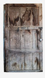 Old wooden door with clipping path. Old wooden door on white background with clipping path Royalty Free Stock Photos