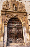 Old Wooden Door Covento de Santa Catalina Granada Andalusia Spai Stock Image