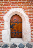 Old wooden door- Cracow, Poland Royalty Free Stock Image