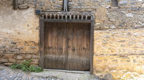 Old Wooden Door Cumalikizik Turkey stock photography
