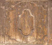 Old wooden door detail. Detailed of an old, weathered medieval church door Stock Photos