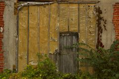 Old Wooden Door. Stock Photo
