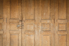 Old wooden door front view Royalty Free Stock Photos