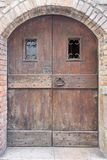Old wooden door or gate Stock Images