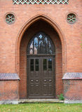 Old wooden door, Gothic style Royalty Free Stock Photos
