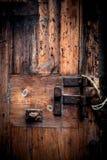 Old wooden door. Grunge wood texture Stock Photography