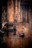 Old wooden door. Grunge wood texture close up macro retro Royalty Free Stock Photos