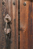 Old Wooden Door With Handle Royalty Free Stock Image