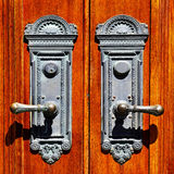 Old Wooden Door Handles Royalty Free Stock Image