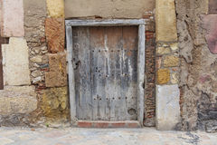 An old wooden door. Royalty Free Stock Photos