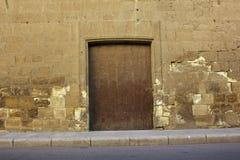 Old Wooden Door. In historical castle Stock Images