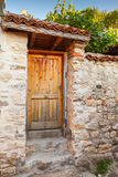 Old wooden door in historical Nesebar Royalty Free Stock Photos