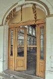 Old wooden door. Wooden door in an old house Royalty Free Stock Photos