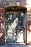 Old wooden door in Istanbul Stock Photo