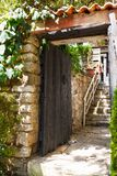 Old wooden door in Istanbul Stock Photos