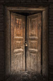 Old Wooden Door in Kashgar Old Town Stock Image