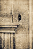 Old wooden door with key hole. Royalty Free Stock Photography