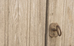 Old wooden door with key Stock Photos