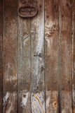 Old wooden door with knocker Stock Photos