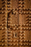Old Wooden Door And Knocker. Ouarzazate. Morocco. Royalty Free Stock Image