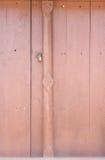 Old wooden door lock Stock Photos