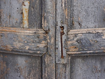 Old wooden door. Old door lock. Old paint. Wooden door Royalty Free Stock Photography