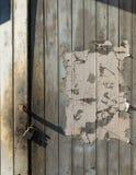 Old wooden door lock Stock Photography