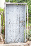 Old wooden door with a lock Royalty Free Stock Images