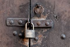 Lock on door Stock Image