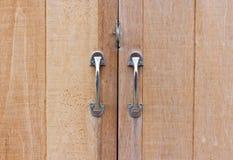 Old wooden door locked Stock Photography