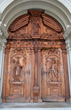 Old wooden door in Lucerne Royalty Free Stock Images