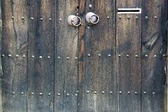 Old Wooden Door with Mail Slot Royalty Free Stock Photo