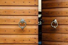 Old Wooden Door with Metal Knockers in Verona Royalty Free Stock Image