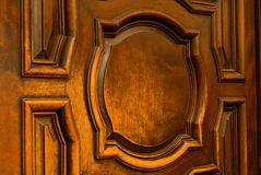 Old wooden door in the mission of Santa Barbara California Royalty Free Stock Photography