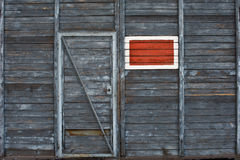 Old wooden door. With a no entry sign Royalty Free Stock Photos