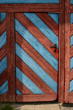 Old wooden door in northeastern Bavaria stock image